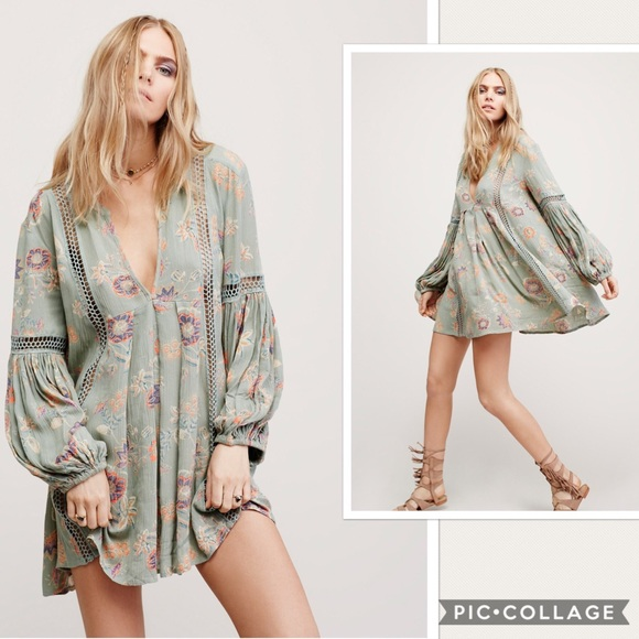 98de28bbee9 Free People Dresses   Nwt Just Two Of Us Tunic Floral Dress   Poshmark